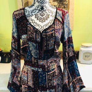AE Patchwork Boho Maxi Dress| Size M.